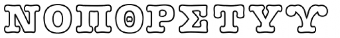 GRK1 Plushy Out Font UPPERCASE