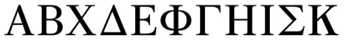 GRK1 Roman Classic 1 Font UPPERCASE