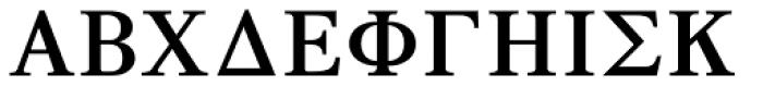 GRK1 Roman Classic 2 Font UPPERCASE