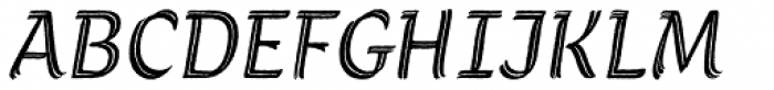 Grafema LC 35 Italic Rough Font UPPERCASE