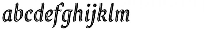 Grafema LC 35 Italic Rough Font LOWERCASE