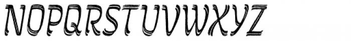Grafema LC 85 Italic Rough Font UPPERCASE