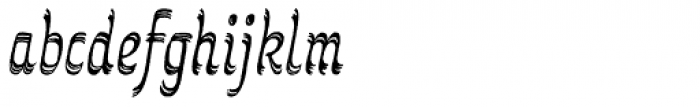 Grafema LC 85 Italic Rough Font LOWERCASE