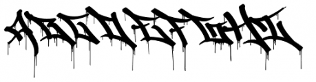 Graffiti Drips Font UPPERCASE
