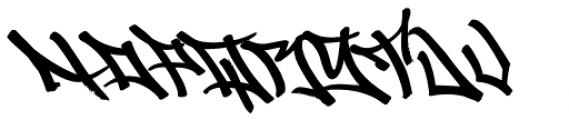 Graffiti Drips Font LOWERCASE