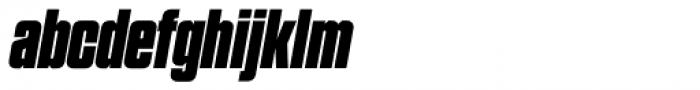 Grand Black Italic Font LOWERCASE