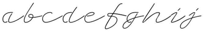 Grandcafe Light Font LOWERCASE