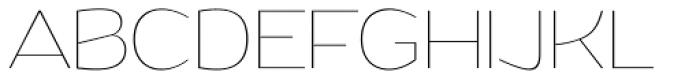 Grandi Thin Font UPPERCASE