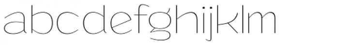 Grandi Thin Font LOWERCASE