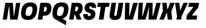Grandis Condensed Black Italic Font UPPERCASE