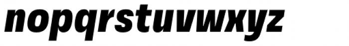 Grandis Condensed Black Italic Font LOWERCASE