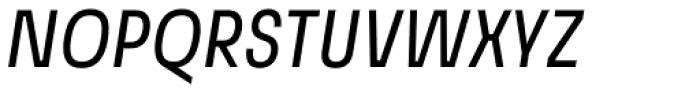 Grandis Condensed Regular Italic Font UPPERCASE