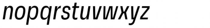 Grandis Condensed Regular Italic Font LOWERCASE