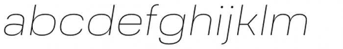 Grandis Extended Thin Italic Font LOWERCASE