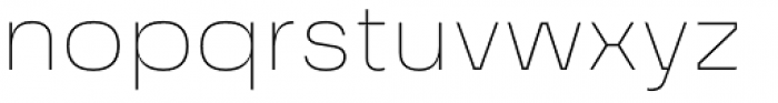 Grandis Extended Thin Font LOWERCASE