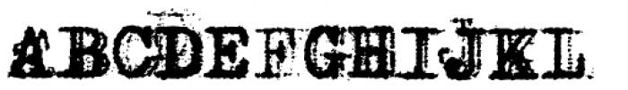 Grandpas Typewriter Four Font UPPERCASE
