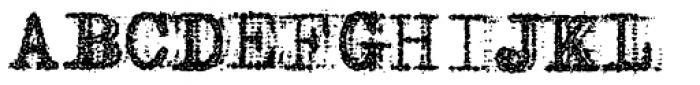 Grandpas Typewriter One Font UPPERCASE