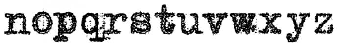 Grandpas Typewriter One Font LOWERCASE