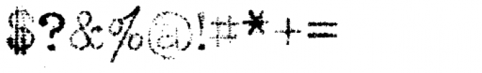 Grandpas Typewriter Three Font OTHER CHARS