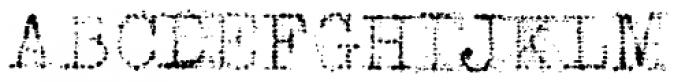 Grandpas Typewriter Three Font UPPERCASE