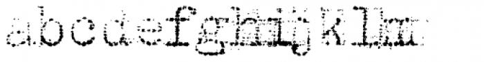 Grandpas Typewriter Three Font LOWERCASE