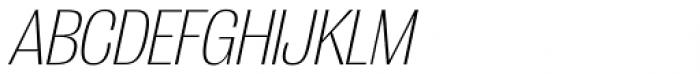 Grange ExtraLight Condensed Italic Font UPPERCASE