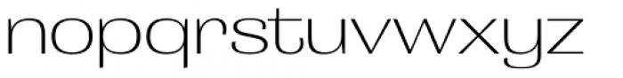Grange ExtraLight Extended Font LOWERCASE
