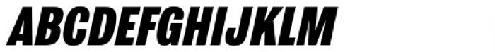 Grange Heavy Condensed Italic Font UPPERCASE