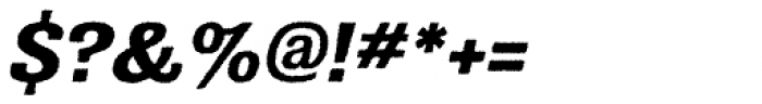 Grange Rough Bold Italic Font OTHER CHARS