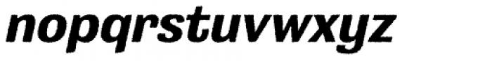 Grange Rough Bold Italic Font LOWERCASE