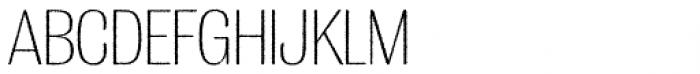 Grange Rough ExtraLight Condensed Font UPPERCASE