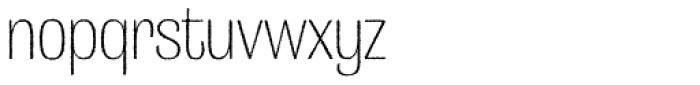 Grange Rough ExtraLight Condensed Font LOWERCASE