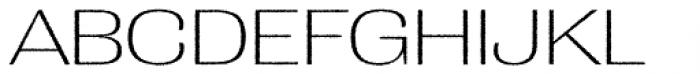 Grange Rough ExtraLight Extended Font UPPERCASE