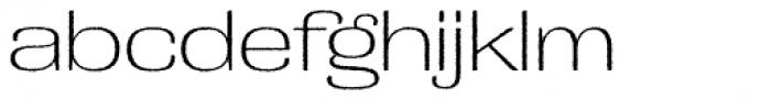 Grange Rough ExtraLight Extended Font LOWERCASE