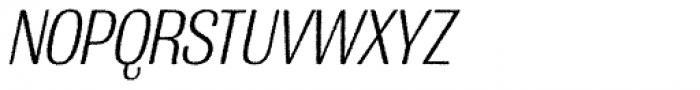 Grange Rough Light Condensed Italic Font UPPERCASE