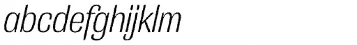 Grange Rough Light Condensed Italic Font LOWERCASE