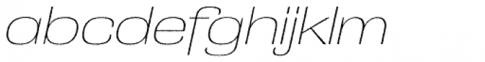 Grange Rough Thin Extended Italic Font LOWERCASE
