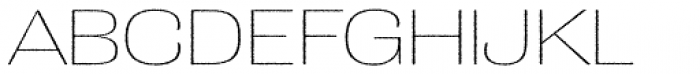 Grange Rough Thin Extended Font UPPERCASE