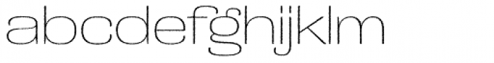 Grange Rough Thin Extended Font LOWERCASE