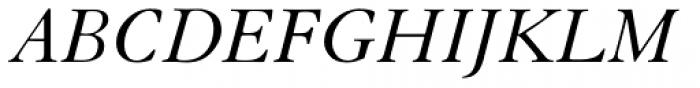 Granjon Italic Old Style Figures Font UPPERCASE