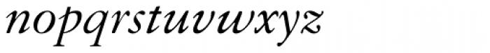 Granjon Italic Old Style Figures Font LOWERCASE