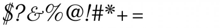 Granjon LT Std Italic Font OTHER CHARS