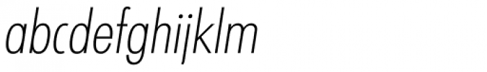 Graphicus DT Cond Light Obl Font LOWERCASE