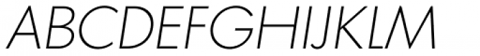 Graphicus DT Light Oblique Font UPPERCASE