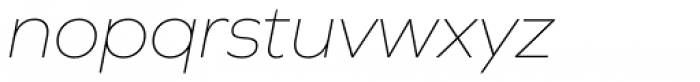 Graphie Thin Italic Font LOWERCASE