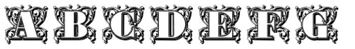 Gras Vibert Decorative Shadow Font UPPERCASE