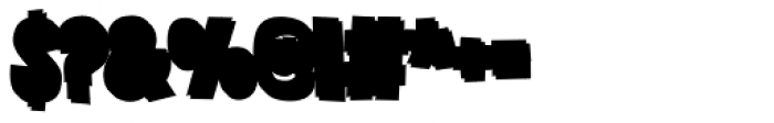 Grateful Clean 3 D Black Font OTHER CHARS