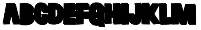 Grateful Clean 3 D Black Font LOWERCASE
