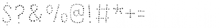 Grateful Dots 2 Font OTHER CHARS