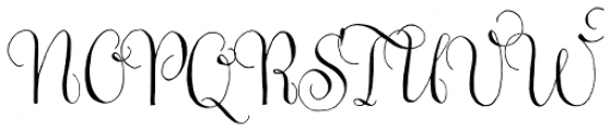 Gratitude Script Pro Font UPPERCASE